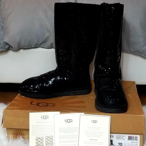 dc73e4b7c20 💎RARE Ugg Australia Black Classic Tall Sparkles